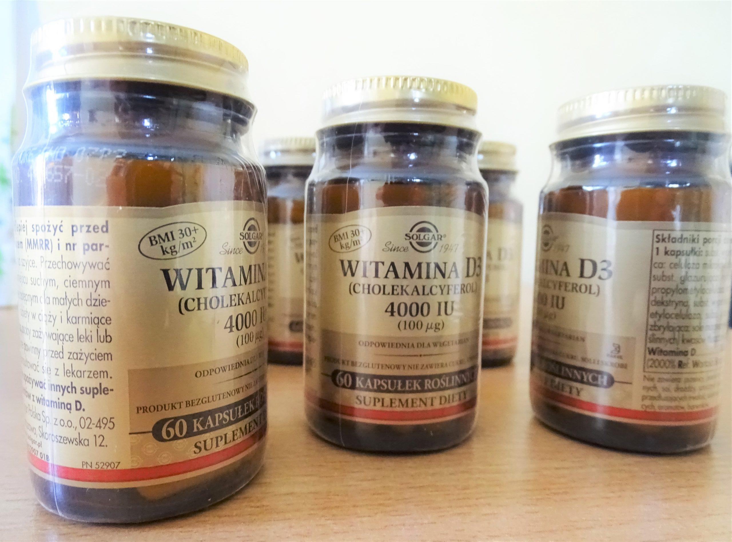 witaminy w opakowaniach